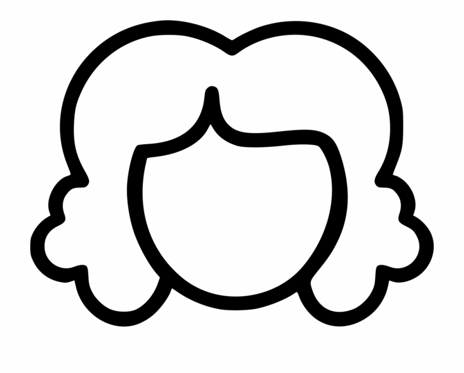 svg free library Hair clipart black and white. Png file svg curly.