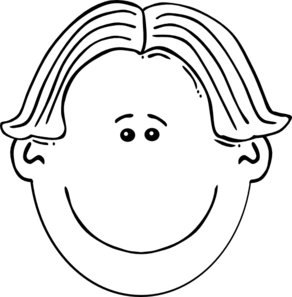 image stock Hair clipart black and white. Boy face clip art