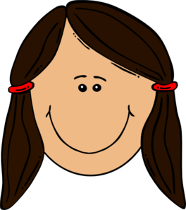 vector freeuse library Girl clip art at. Hair clipart brown