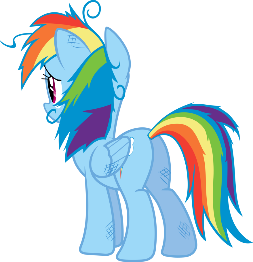 banner library download Rainbow dash by sairoch. Hair clipart disheveled