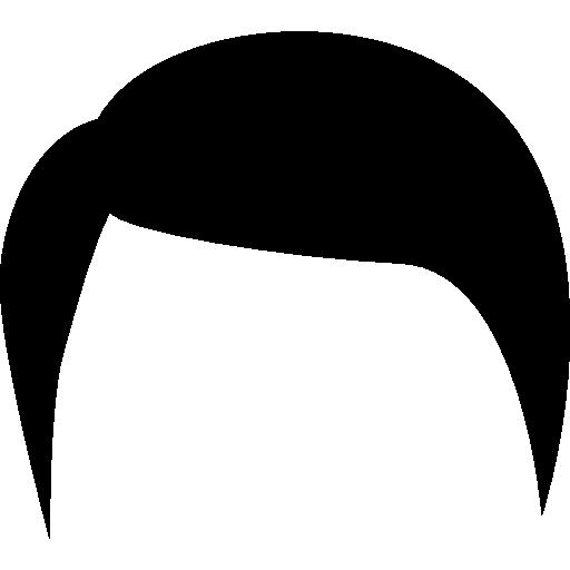 svg stock Hair clipart male. Black short shape salon
