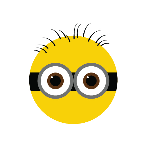 png freeuse download Minimalistic despicable me on. Hair clipart minion