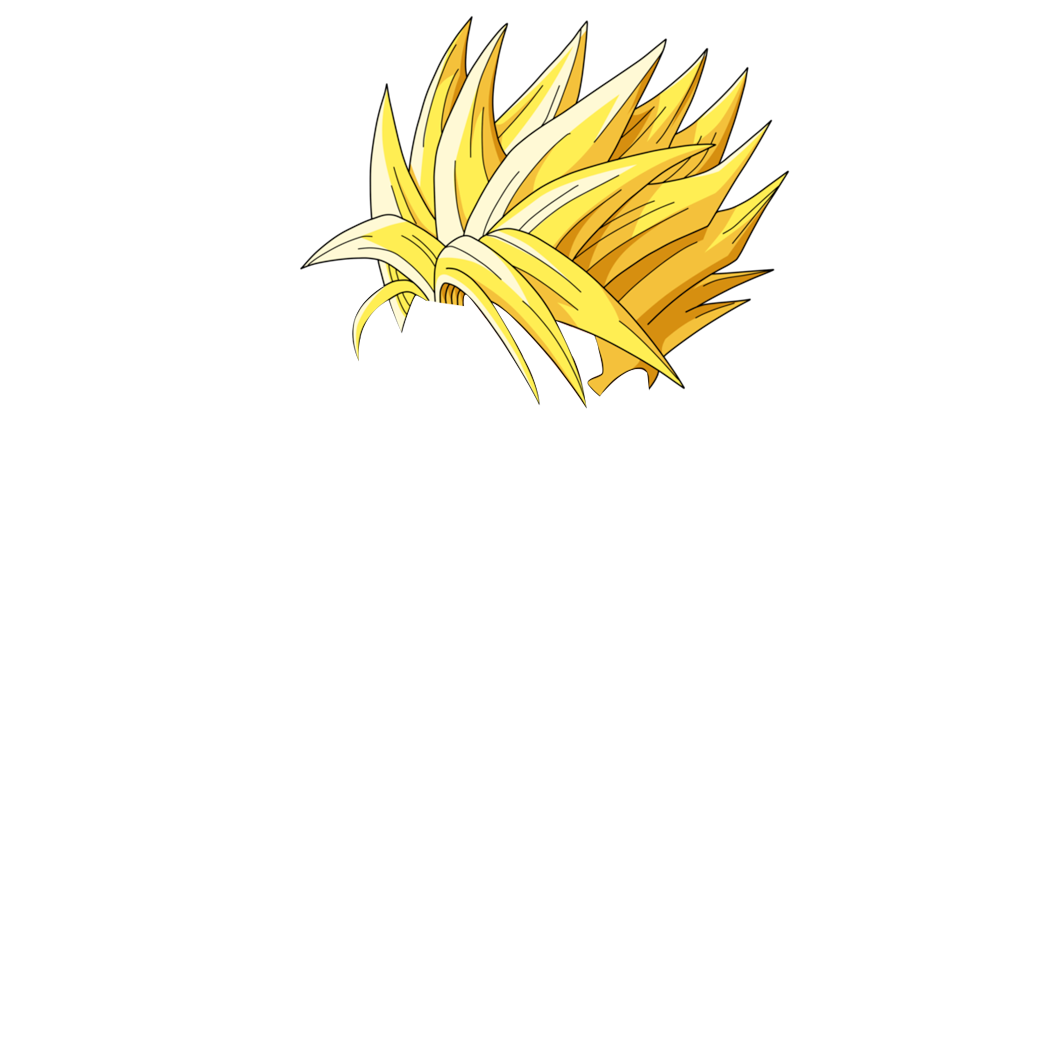 png library download Pencil and in color. Hair clipart super saiyan