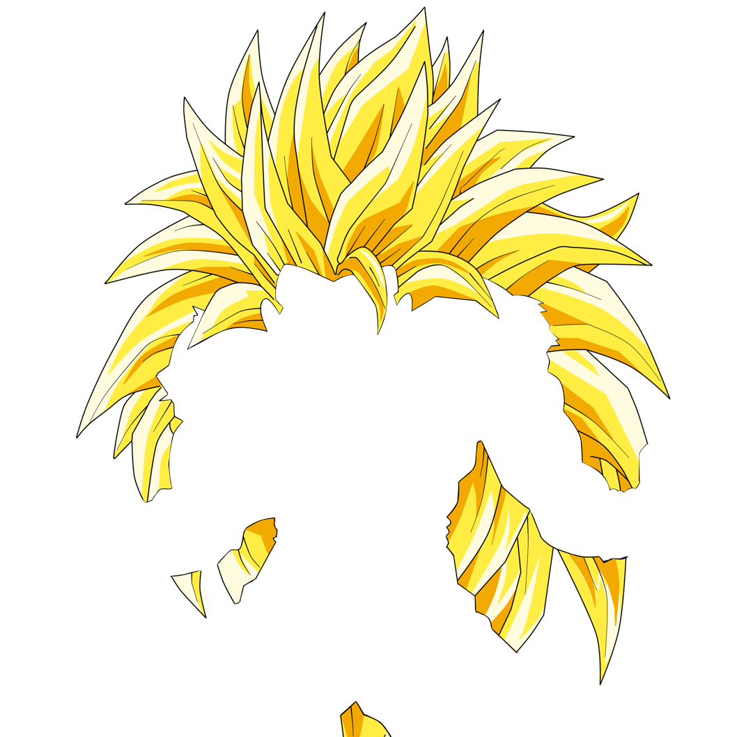 graphic Pencil and in color. Hair clipart super saiyan