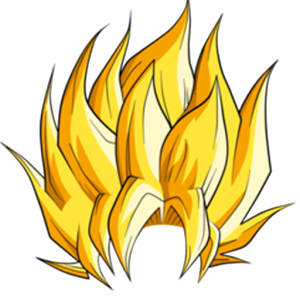 banner freeuse Pencil and in color. Hair clipart super saiyan.