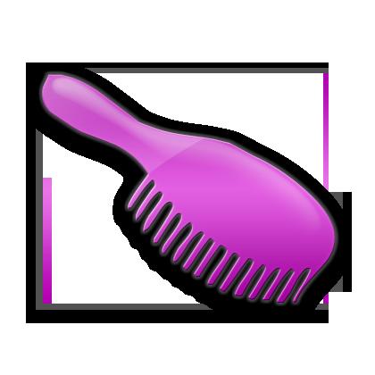 svg black and white Hairbrush clipart bursh. Icon person hair brush