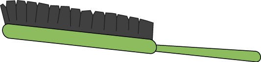 jpg free library Green Hair Brush Clip Art