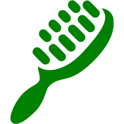 clipart library library Hairbrush clipart green. Hair brush icon free