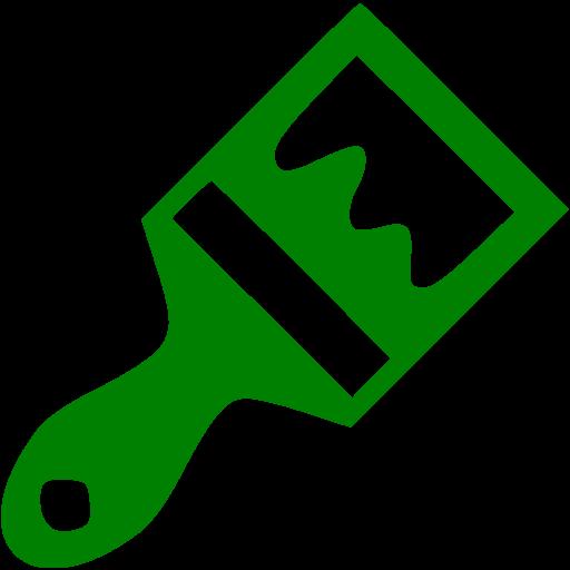 svg stock Hairbrush clipart green. Paint brush icon free