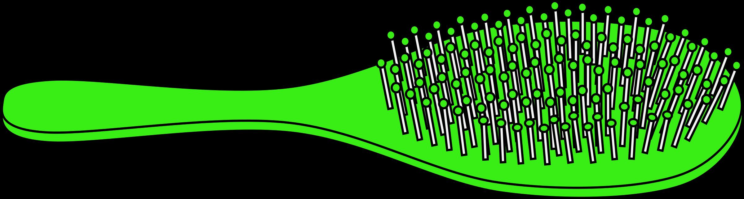 clip art Hairbrush clipart green. Bright big image png