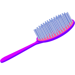 svg transparent Hairbrush clipart round brush. Your hair free download
