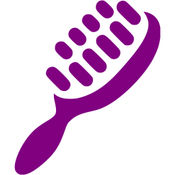 clipart freeuse library Hairbrush clipart violet thing. Purple hair brush icon