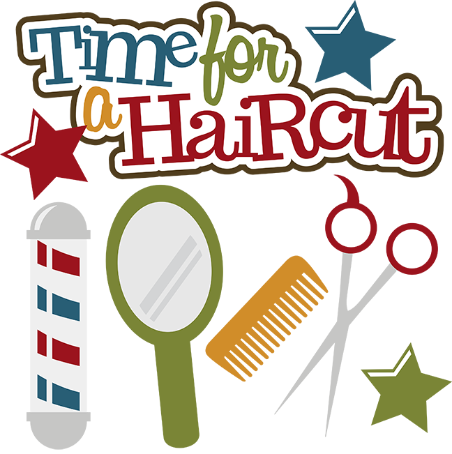 clip library Time for a svg. Haircut clipart