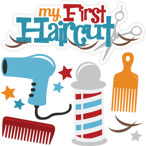svg library download My first boy cuttable. Haircut clipart
