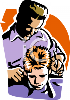 graphic royalty free Haircut clipart animated. Mens hair cut