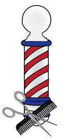 png free Classic cuts shaves men. Haircut clipart barber shop pole