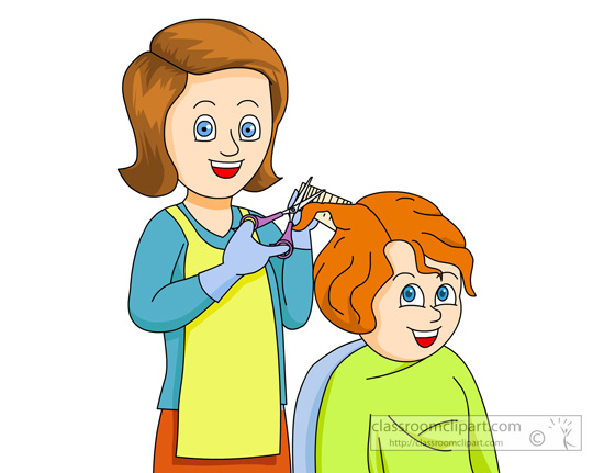 royalty free library Haircut clipart cartoon. Collection of free geeing