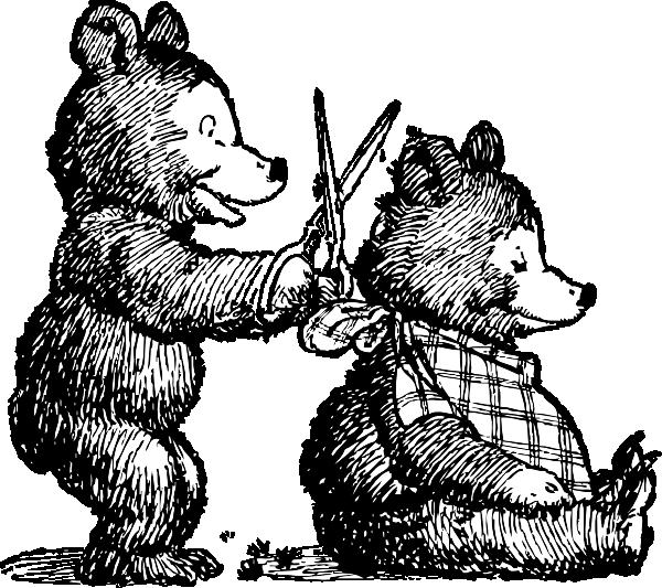 clip art free library Haircut clipart cartoon. Bear gets clip art