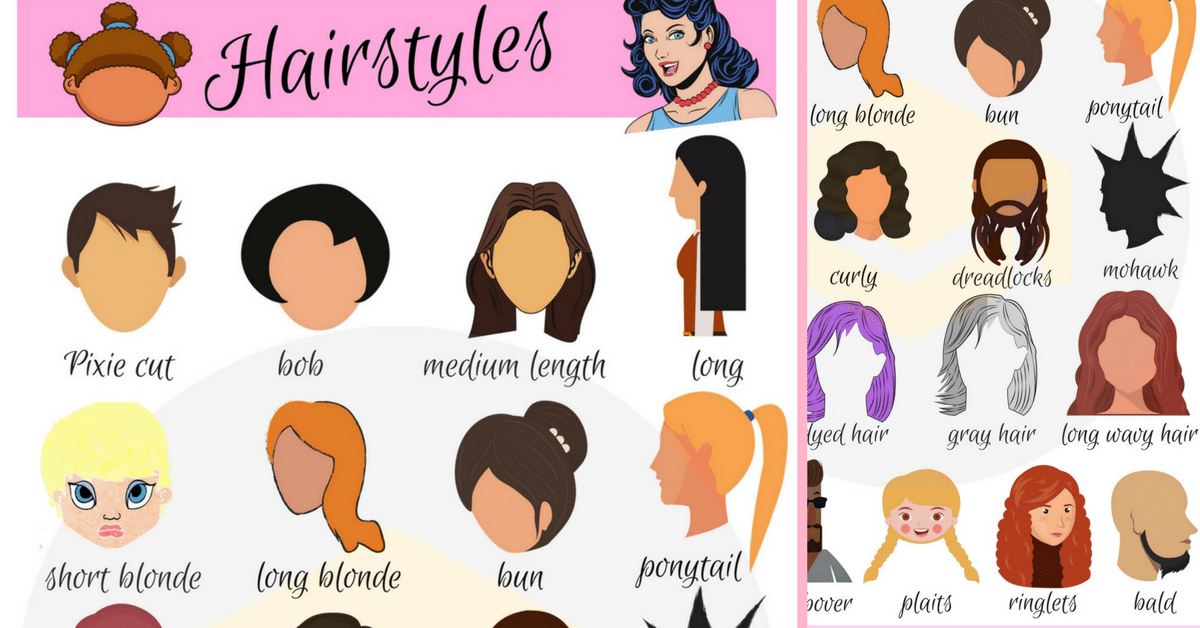 banner Haircut clipart curly hairstyle. Vocabulary in english getting