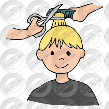 royalty free Picture for classroom therapy. Haircut clipart first haircut