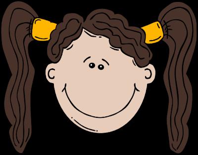 jpg black and white stock Trend brown hair cartoon. Haircut clipart little girl hairstyle