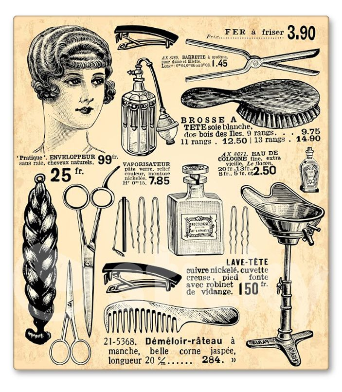 image black and white Haircut clipart vintage salon. X free clip art