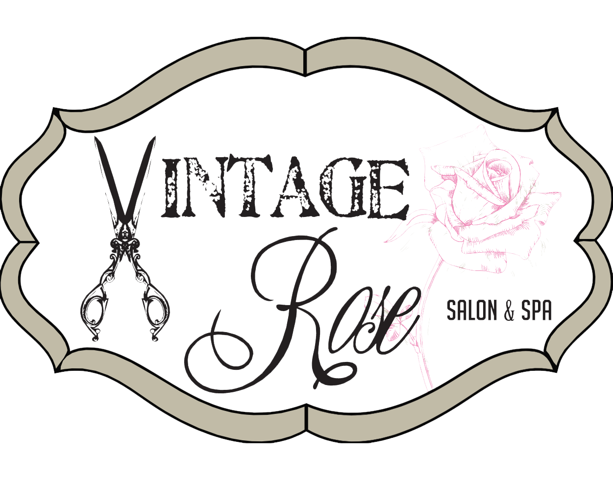 svg black and white Haircut clipart vintage salon. Rose and spa