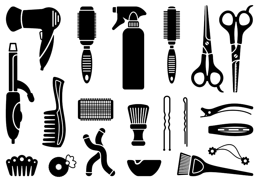 svg free library Hairdresser clipart accessory. Comb clip art hairdressing