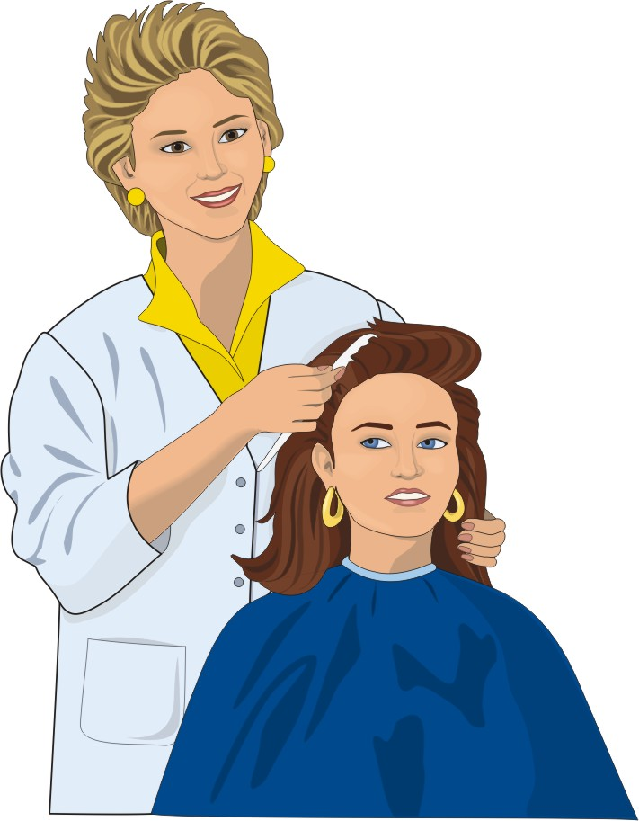 free library Free funny cliparts download. Hairdresser clipart animated