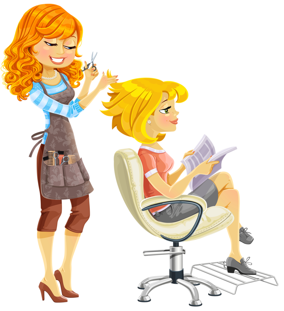 graphic freeuse library A ua f hp. Hairdresser clipart animated
