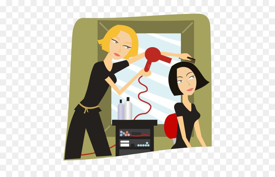 clip art freeuse stock Hair cartoon communication . Hairdresser clipart animated