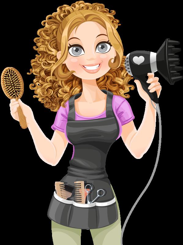 banner transparent Personnages illustration individu personne. Hairdresser clipart equipment