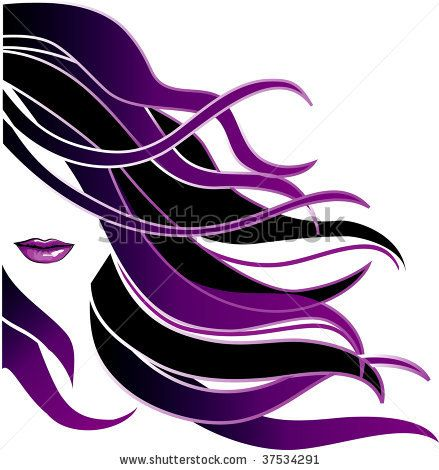 clipart black and white download Logos for salon signs. Hairdresser clipart purple hair