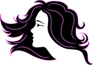 picture Hairdresser clipart purple hair. Salon logos and clip