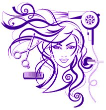 graphic freeuse library Hairdresser clipart purple hair.  best clip art