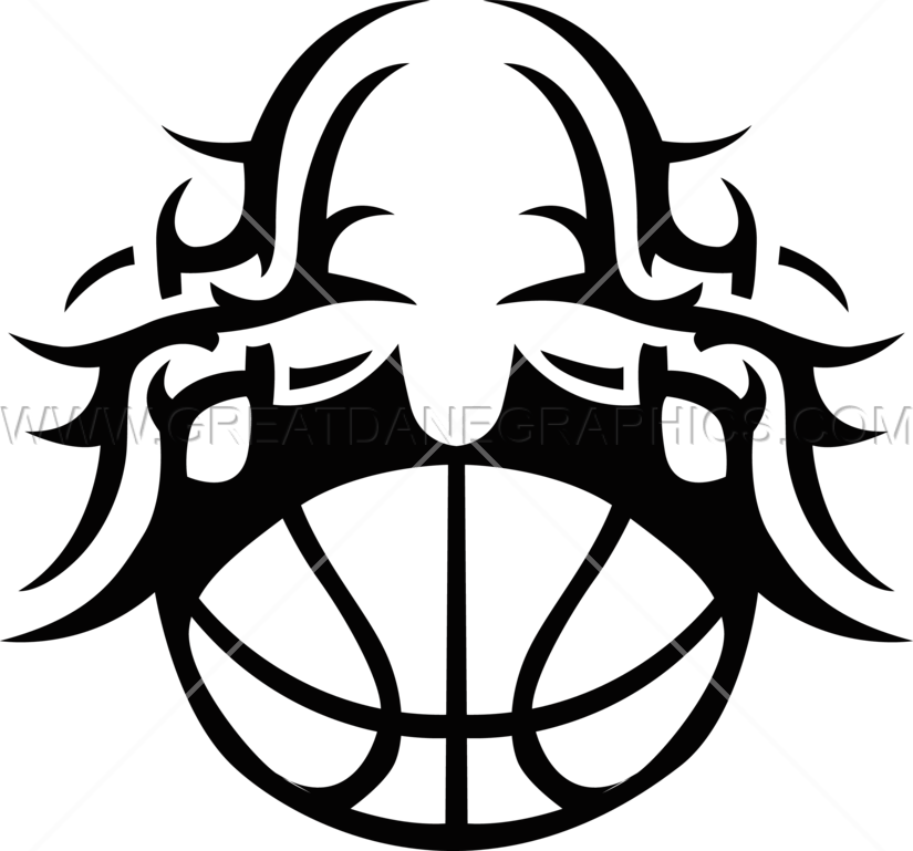 svg download Tribal Half Basketball