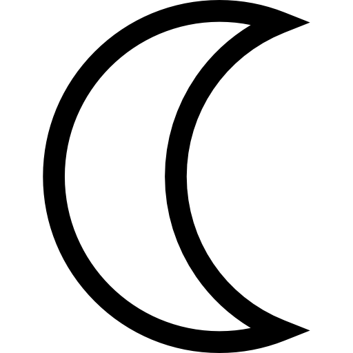 download Half moon clipart black and white. Icon page png svg