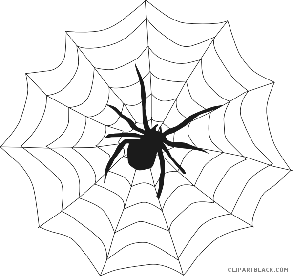 clipart free library Halloween spider animal free. Web clipart black and white