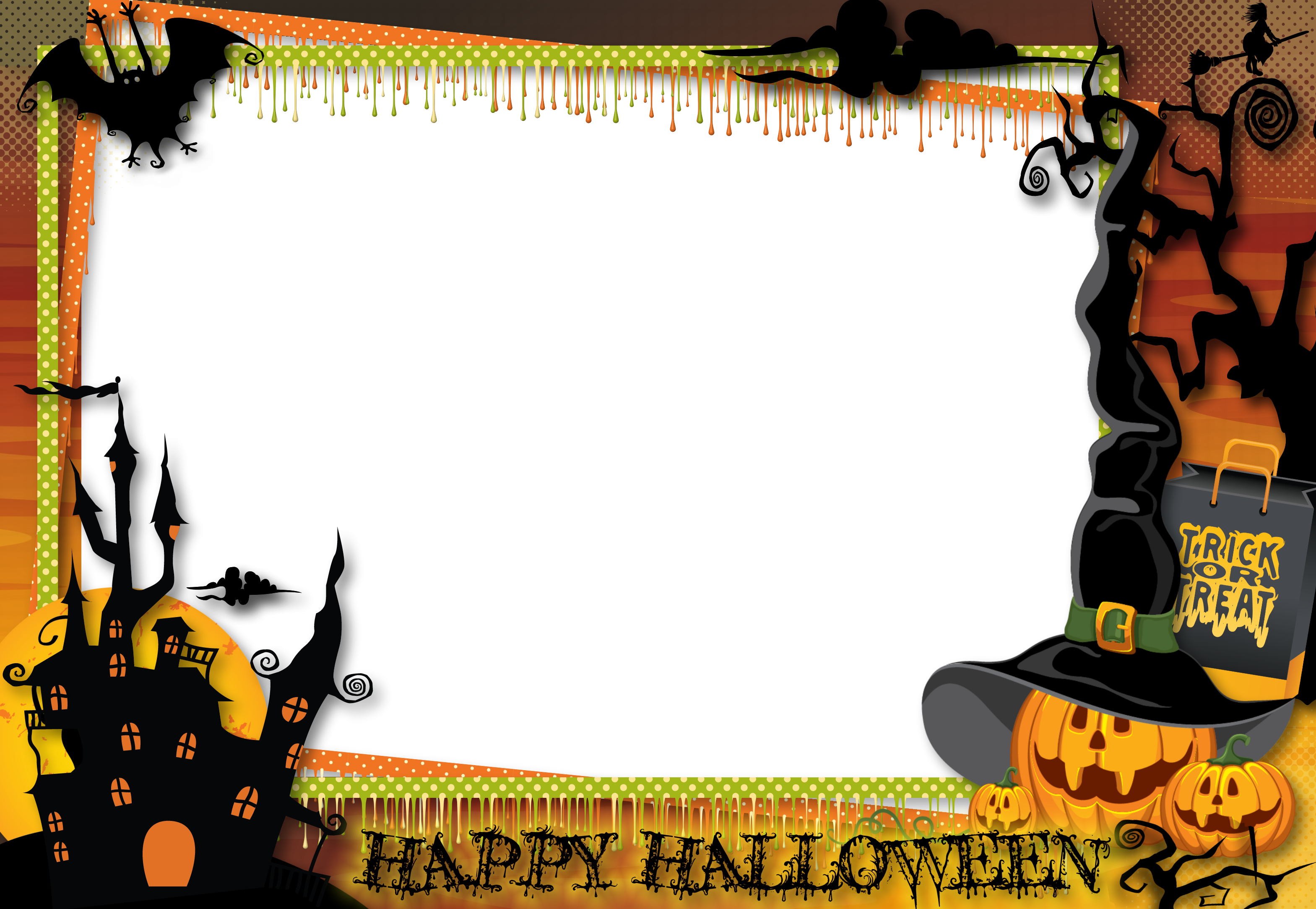 vector library stock Halloween borders clipart. Frames and silviub months