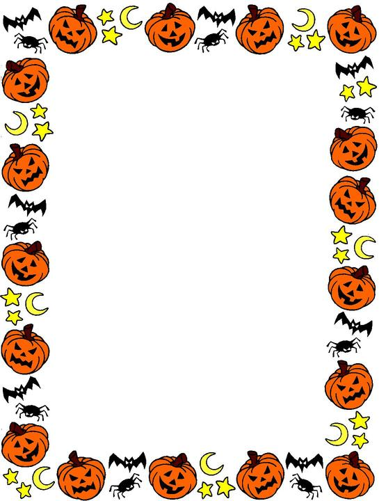jpg library download Halloween borders clipart. Free download clip art