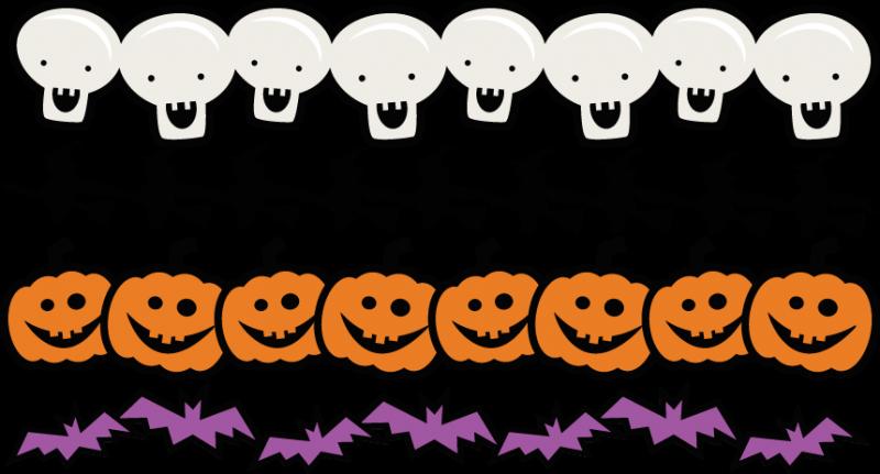 svg Set svg scrapbook title. Halloween borders clipart