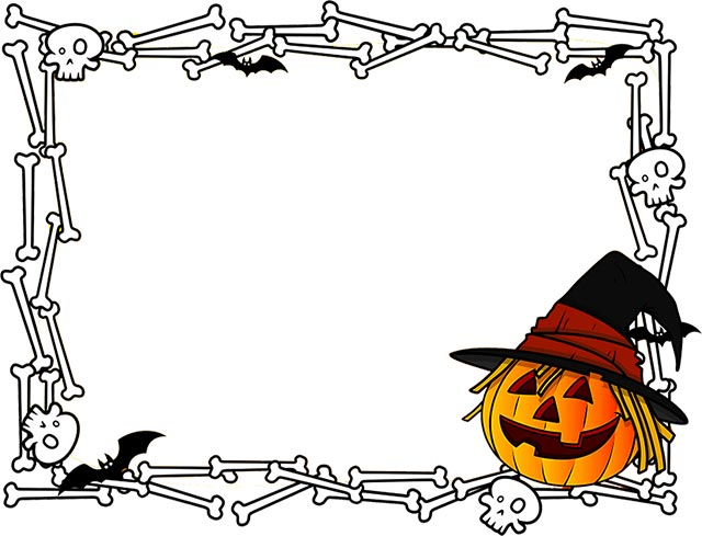 clip art black and white library Free happy border clip. Halloween clipart borders