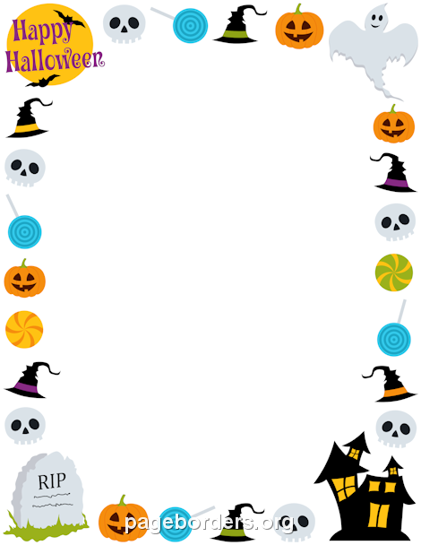 image royalty free download Halloween borders clipart. Pin by muse printables