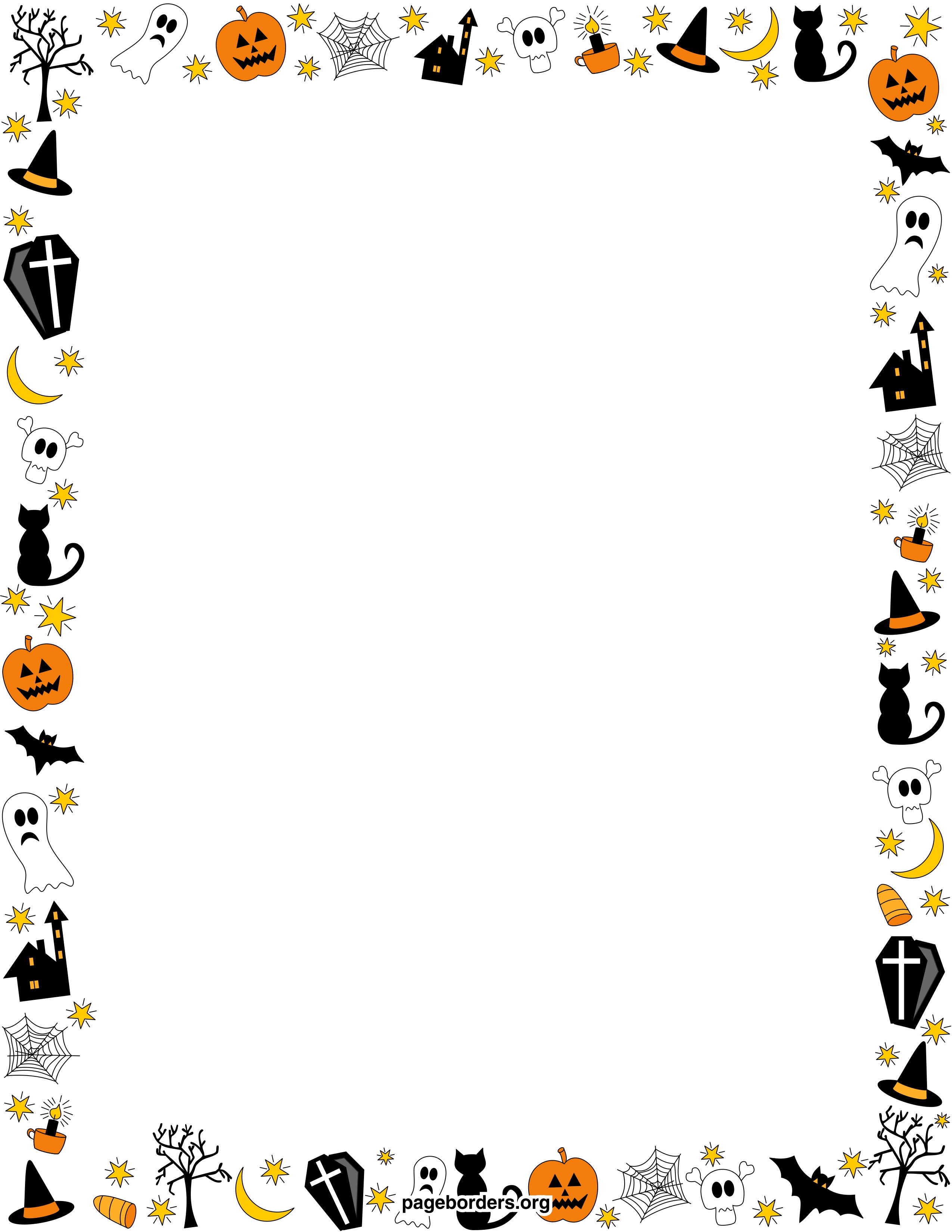jpg library download Free download clip art. Halloween borders clipart