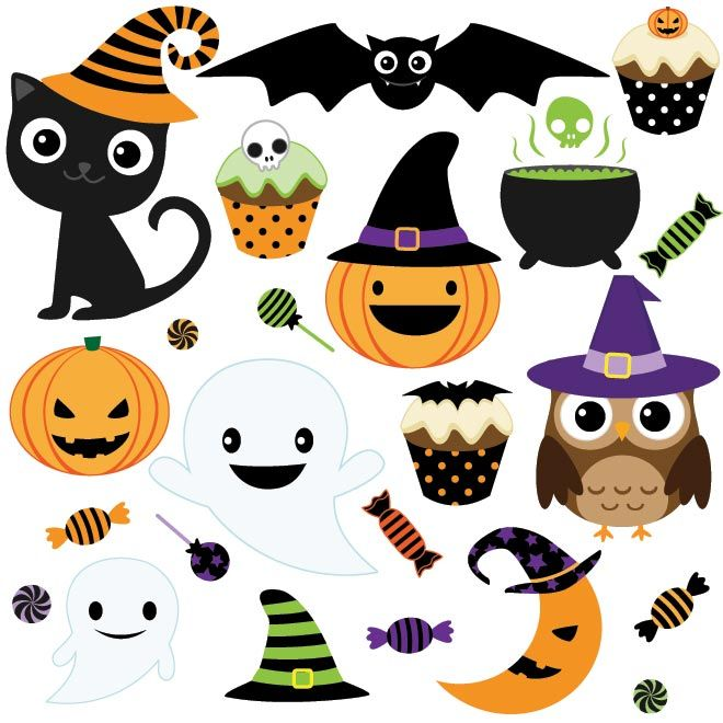 vector black and white library Halloween clipart. Free illustrations and pictures.