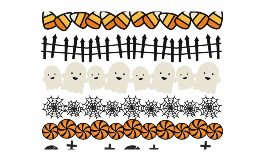 jpg black and white download Halloween clipart borders. Free cute border hd