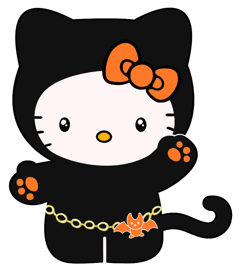 png free library Halloween clipart craft. Hello kitty clip art