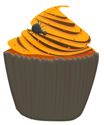 clipart freeuse library Halloween Birthday Cupcake Clipart