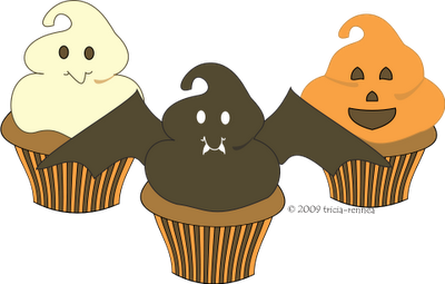 picture freeuse library Halloween clipart food. Cupcakes i luv holidays