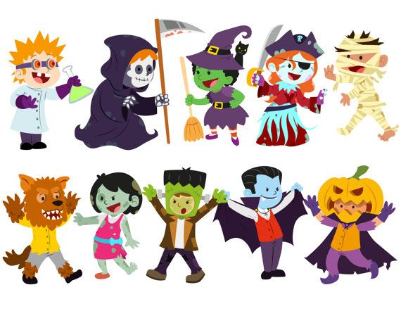 jpg transparent library Kids trick or treating clipart. Halloween costume